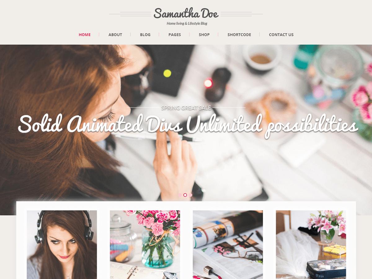 Skt Girlie Lite wordpress theme
