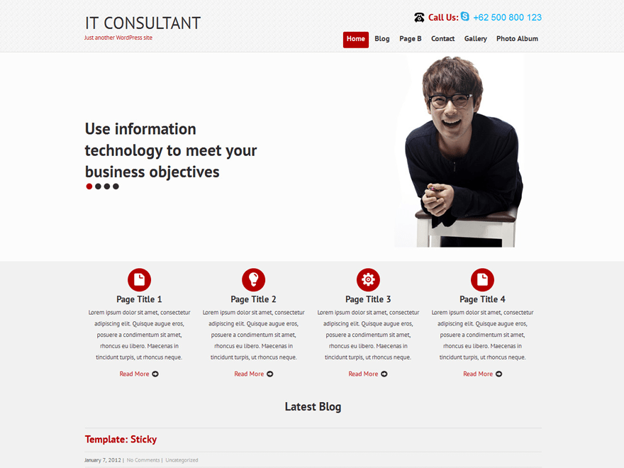 SKT IT Consultant free wordpress theme