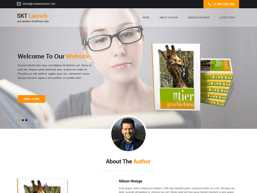 SKT Launch free wordpress theme