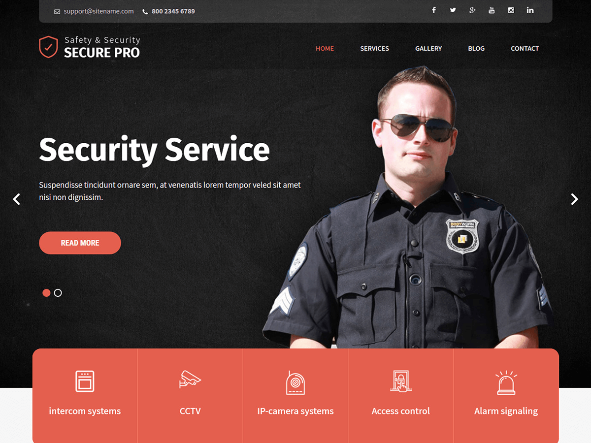 WordPress主题:SKT Secure