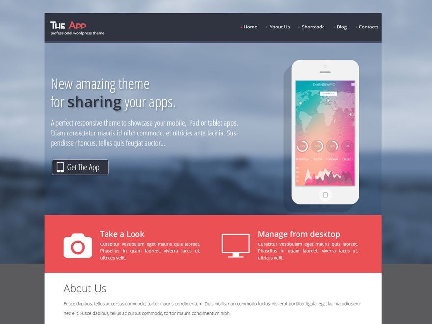 SKT The App free wordpress theme