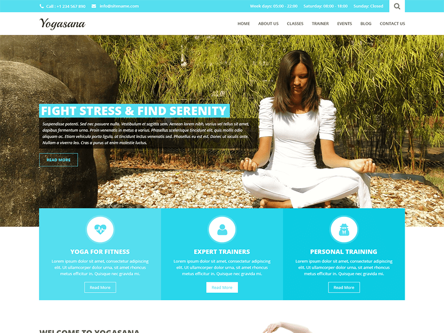 SKT Yogi Lite free wordpress theme