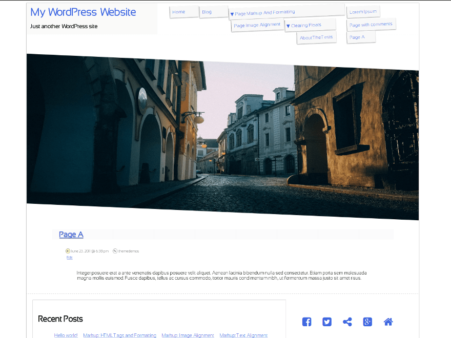 Slanty free wordpress theme