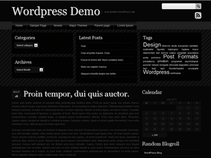 Sleek Black wordpress theme