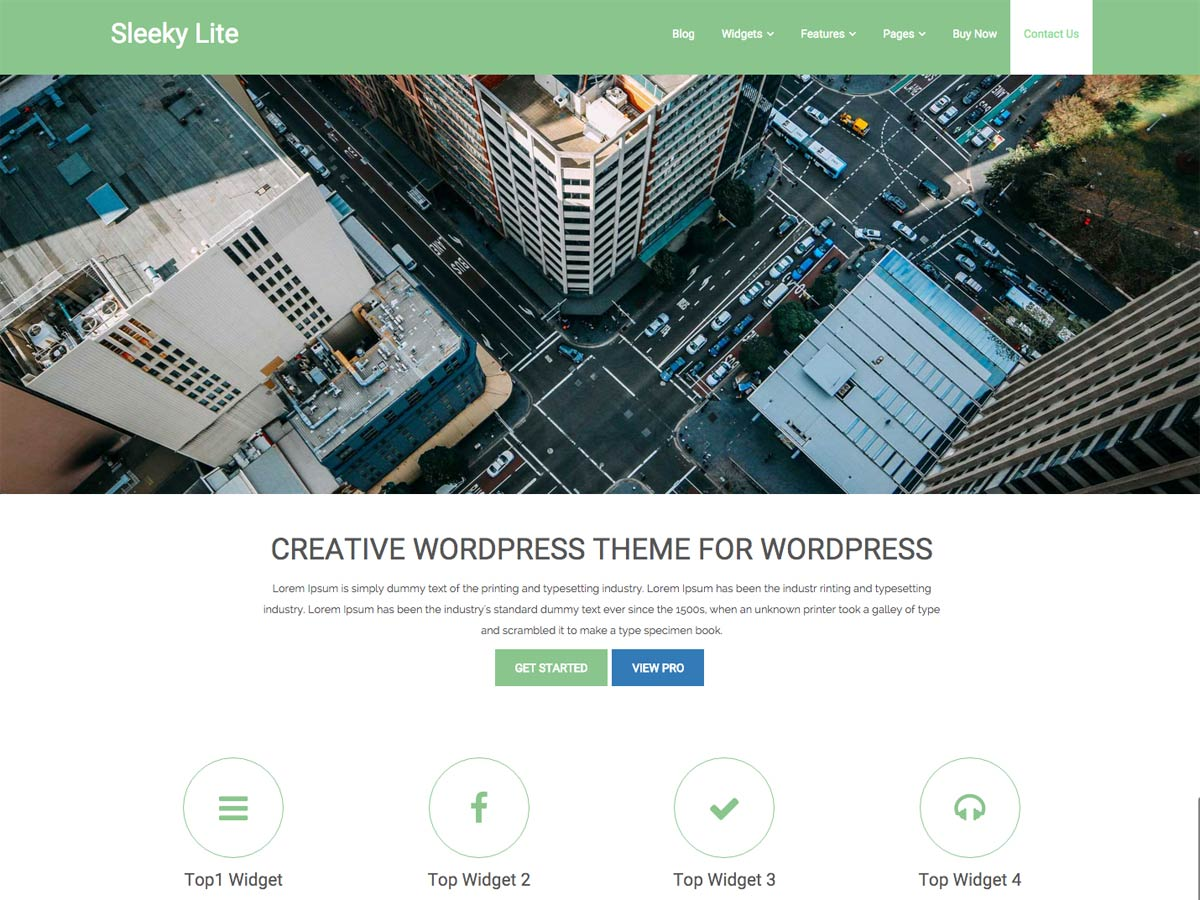 screenshot of sleeky free WooCommerce theme