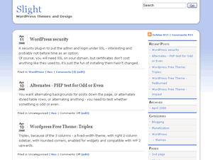 slight free wordpress theme