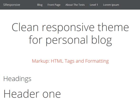 SlResponsive wordpress theme