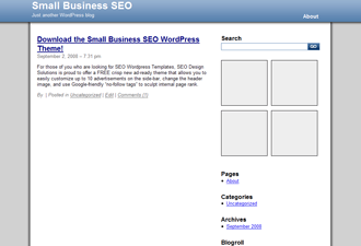 Small Business SEO free wordpress theme