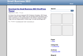 Small Business SEO wordpress theme