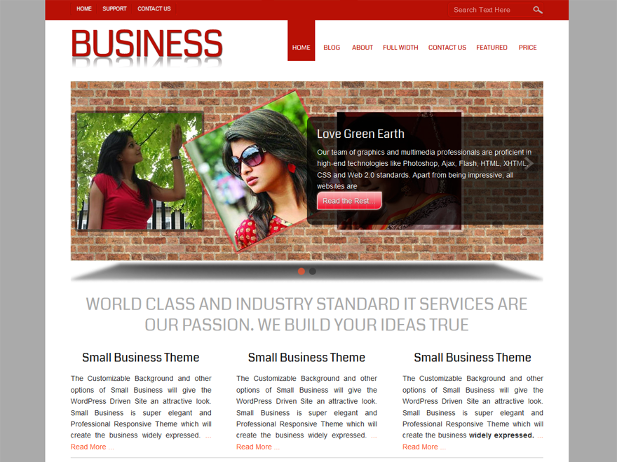 Small business free wordpress theme flashek