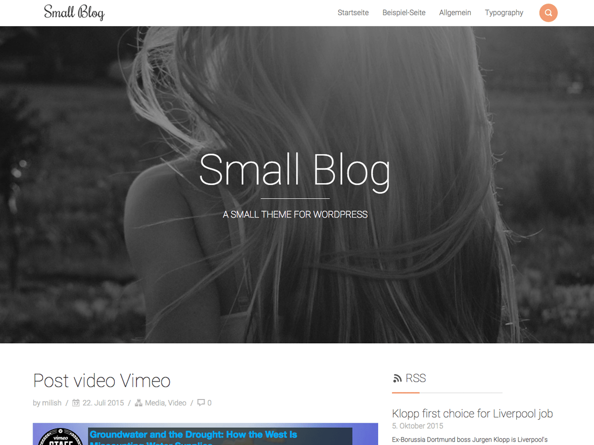 Smallblog free wordpress theme