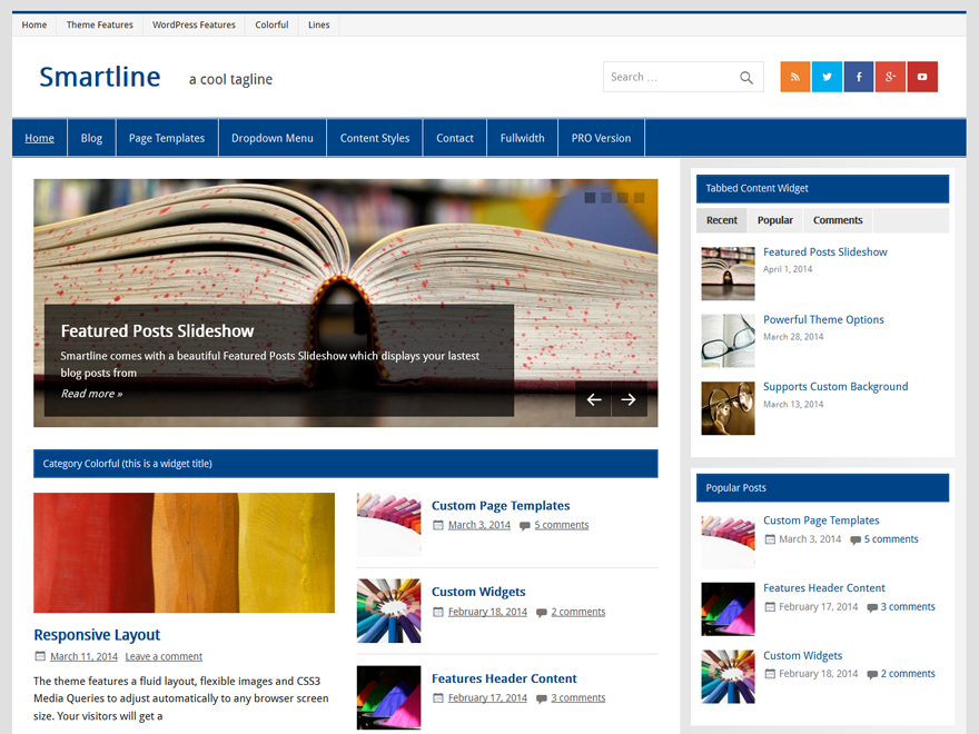 Smartline Lite free wordpress theme