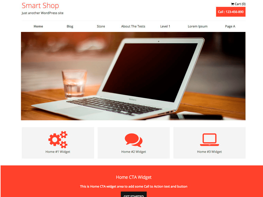 SmartShop free wordpress theme