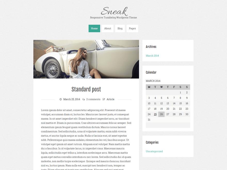 Sneak Lite free wordpress theme