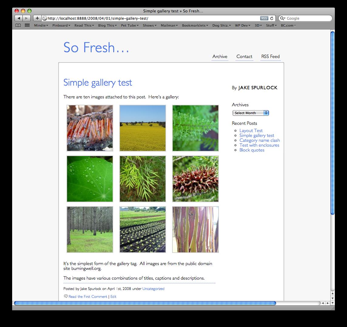 So Fresh... free wordpress theme