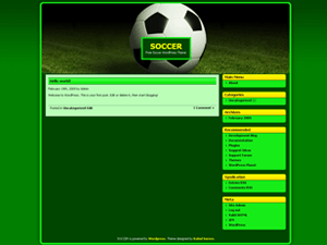 Soccer free wordpress theme