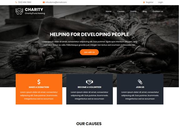 Social Charity - WordPress theme   WordPress.org