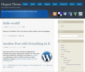 Social free wordpress theme