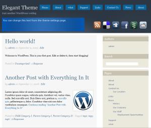 Social free wordpress theme