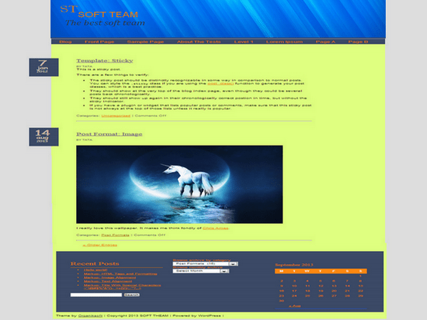 Soft team free wordpress theme