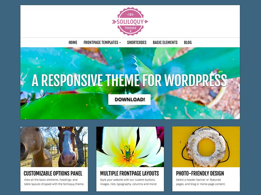 Soliloquy theme wordpress gratuit