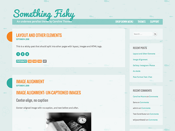 Something Fishy free wordpress theme