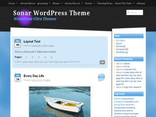 Sonar free wordpress theme