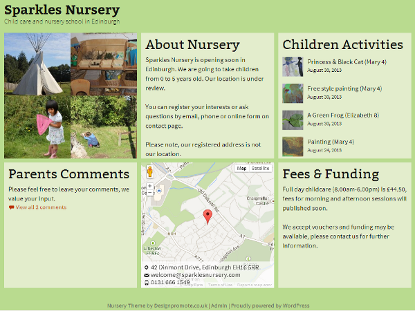 Sparkles Nursery free wordpress theme