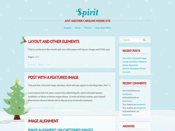 Spirit free wordpress theme