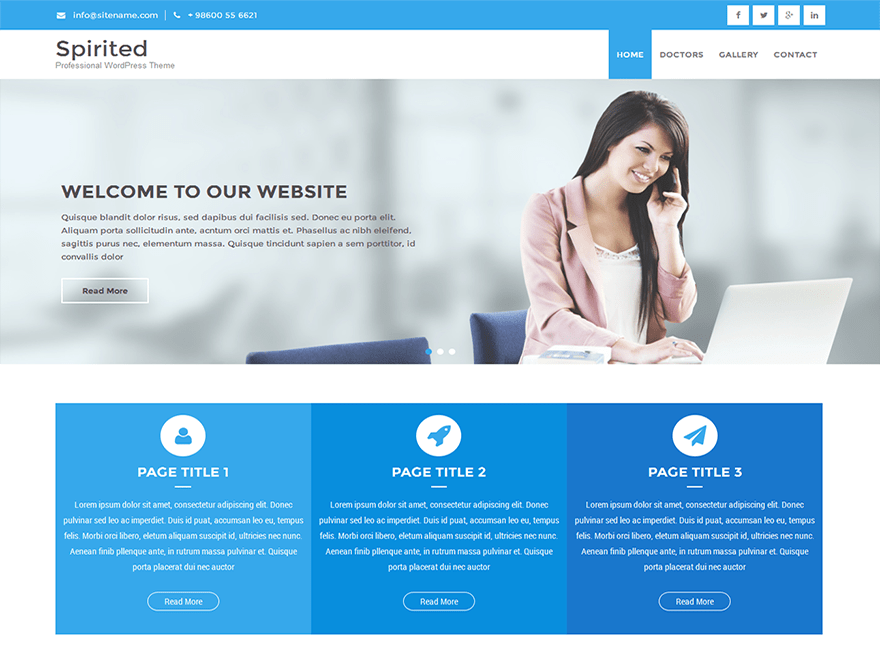 Spirited Lite free wordpress theme
