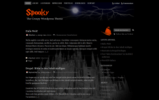 Spooky free wordpress theme