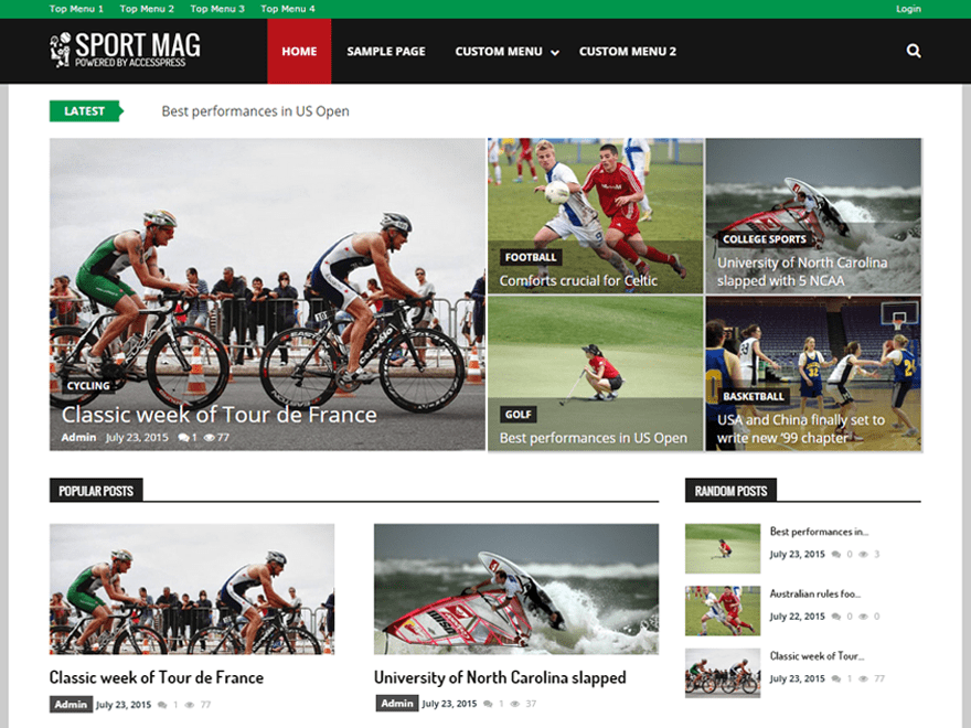 SportsMag free wordpress theme