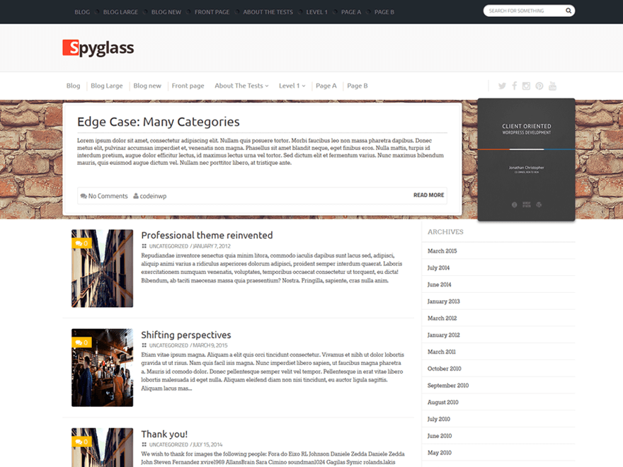 spyglass free wordpress theme