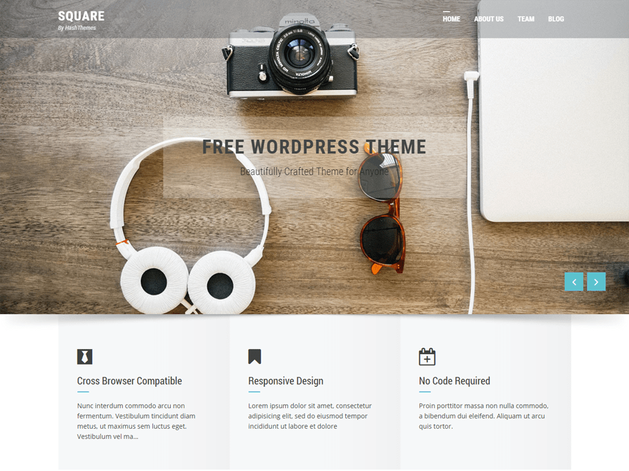 Square free wordpress theme