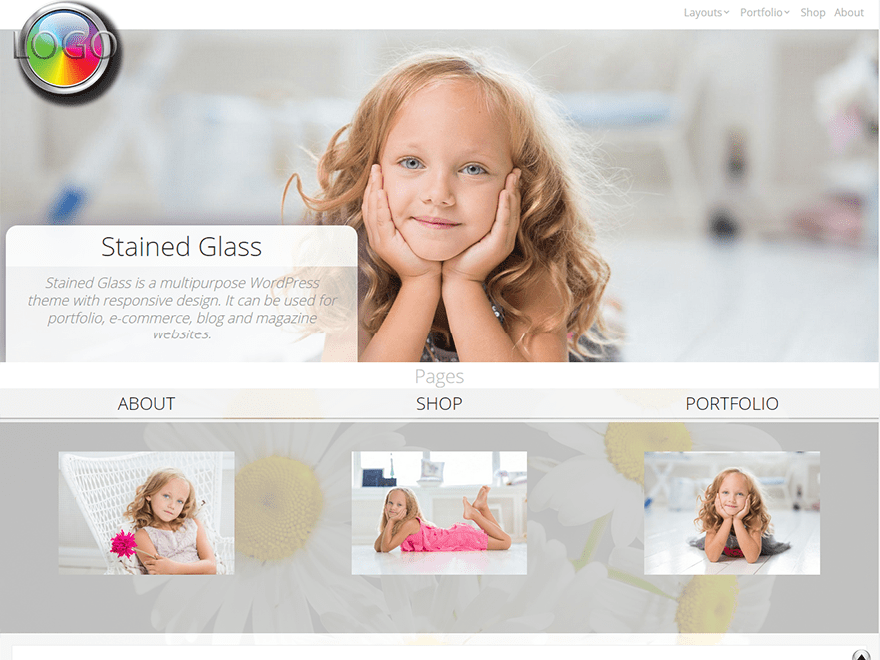 Stained Glass theme wordpress gratuit