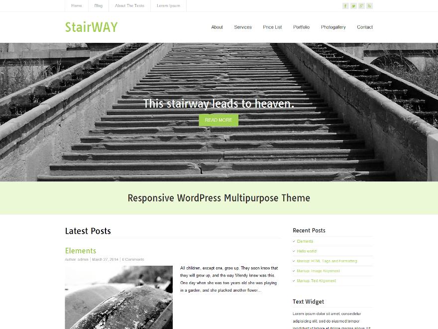 StairWay free wordpress theme