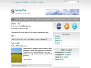 StandardPack free wordpress theme