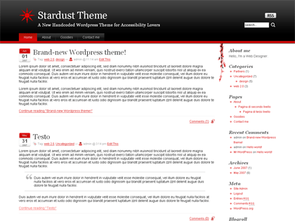 Stardust free wordpress theme
