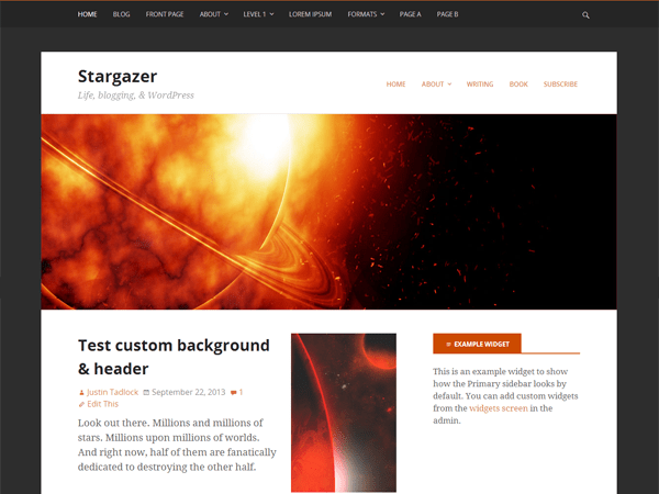 Stargazer Theme screenshot