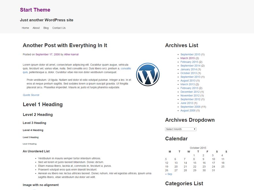 Demarrer theme wordpress gratuit