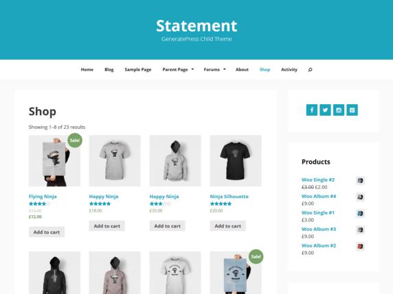 statement free wordpress themes