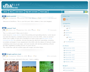 SthBlue free wordpress theme