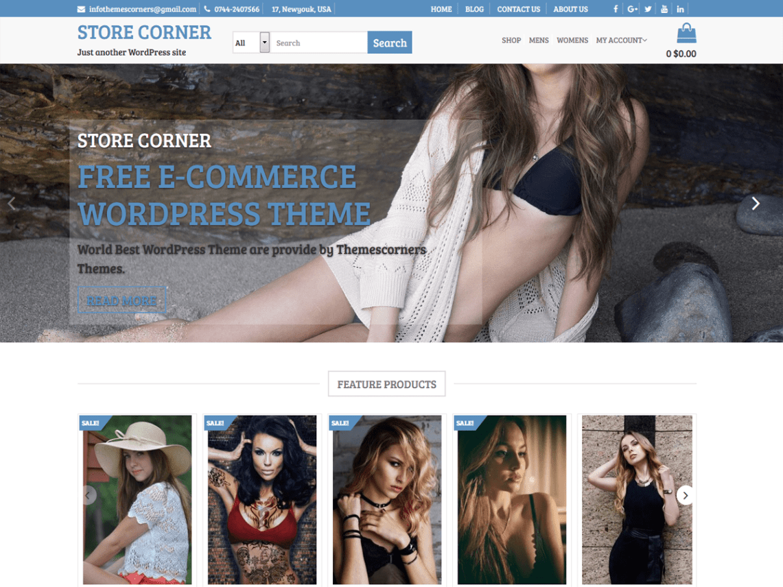 Store Corner Theme Free Download