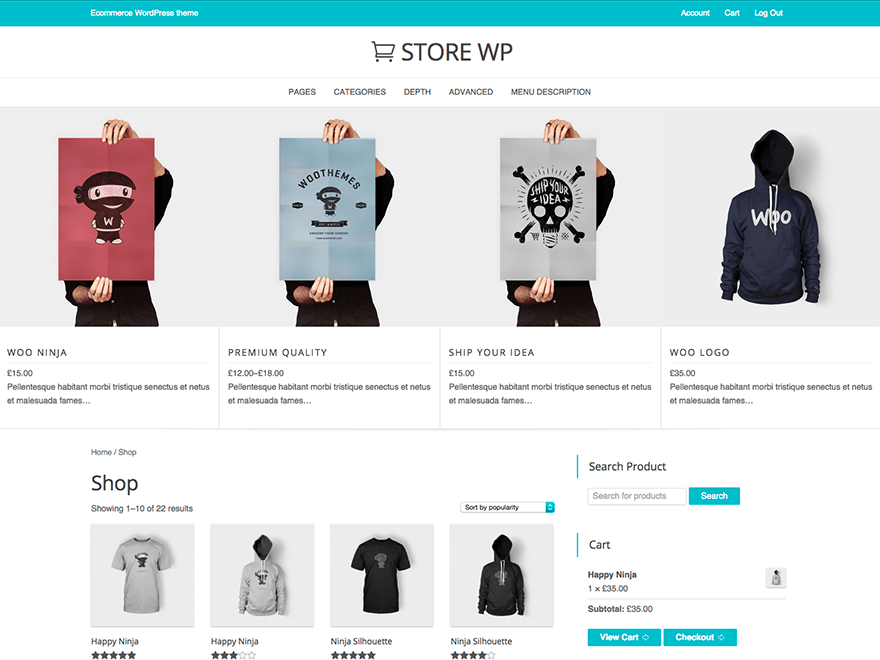 Store WP free wordpress theme