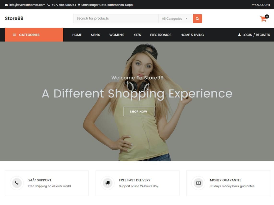 Store99 Theme Free Download