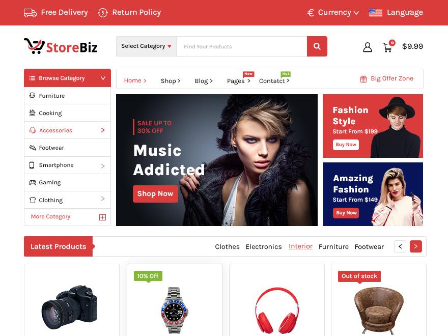 StoreBiz WordPress Theme