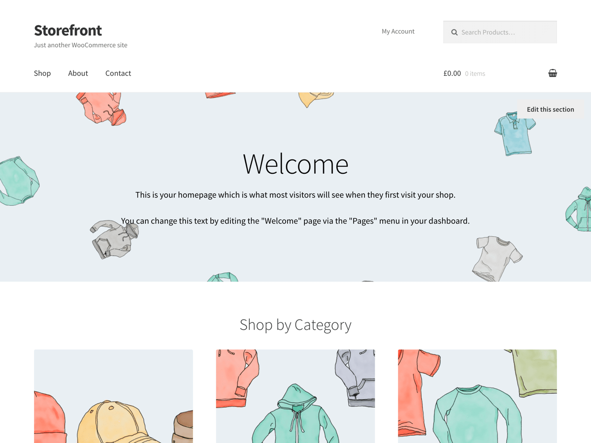 Download Storefront WordPress Theme