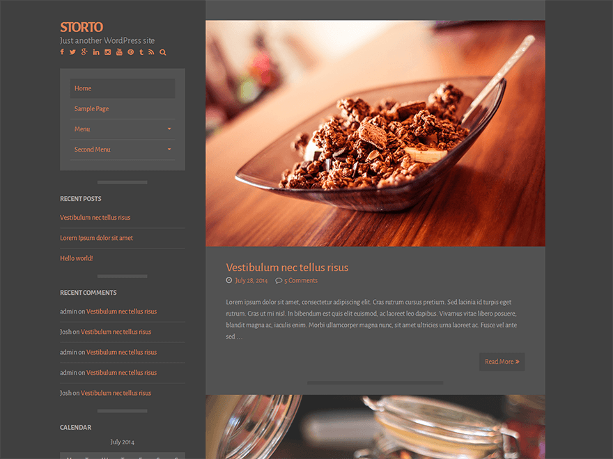 Storto free wordpress theme