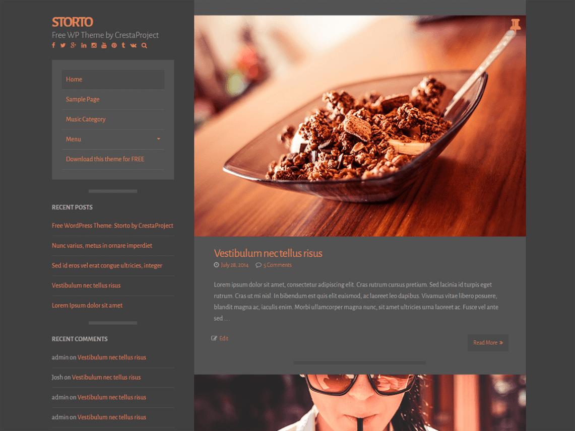 Storto theme wordpress gratuit