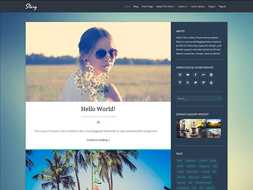 Story free wordpress theme